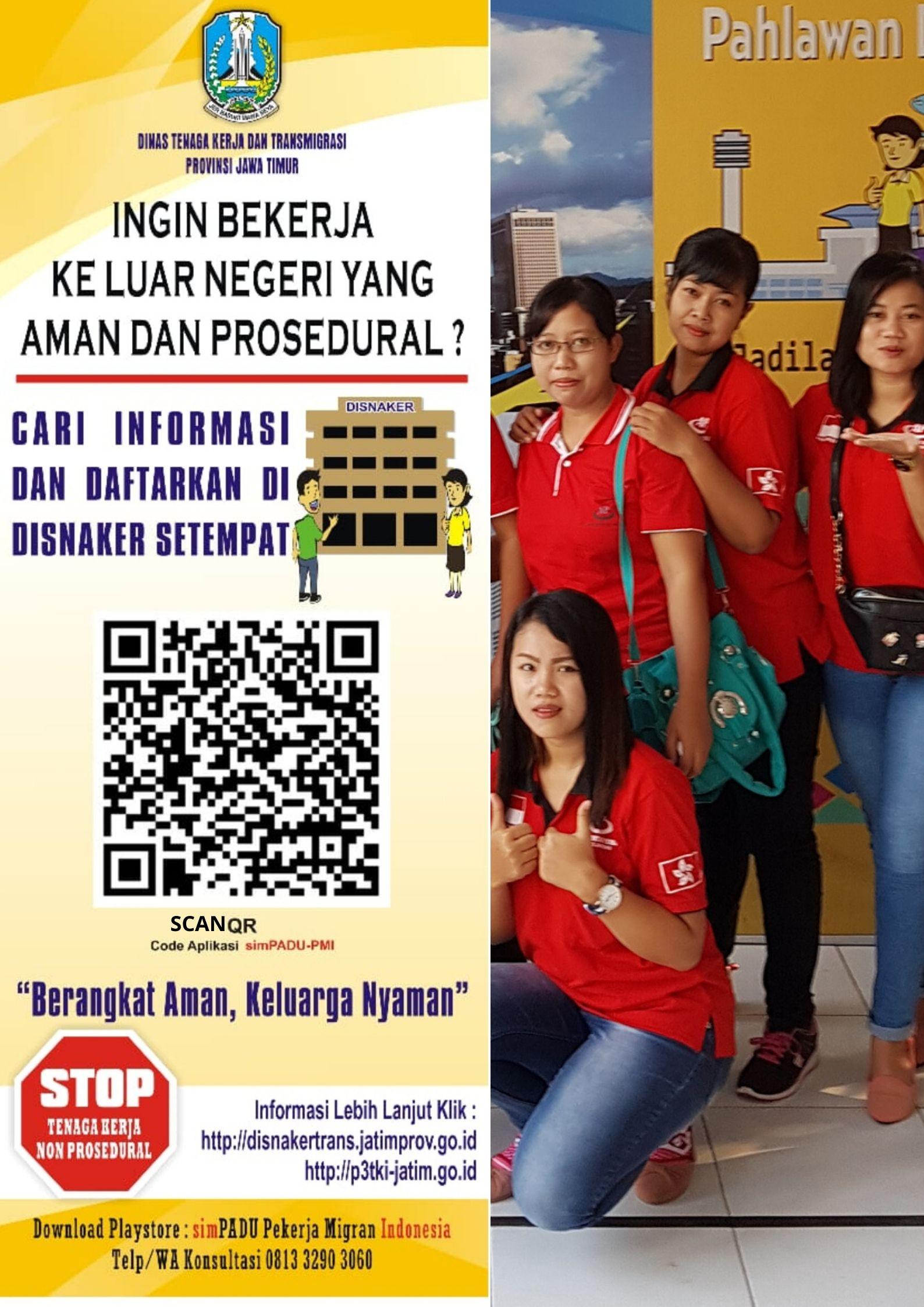 Menu Inovasi Baru QR Scan Me ; Mempermudah Akses Informasi  yang Update dan Legal di Kantong Pekerja Migran